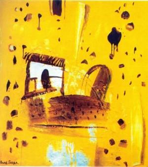 Жовта субмарина. Із серії «Дитячі спогади»,1999, пісок, зміш.техн., 140х130