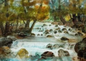 Siniavski Rifts, 1998, watercolour on watman, 43х60