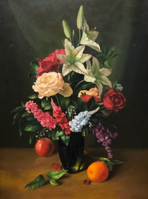 'Flowers And Fruits', 2008, oil on canvas, 80x60