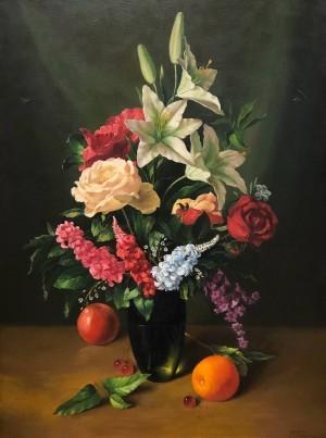 'Квіти і фрукти', 2008, п.о., 80х60