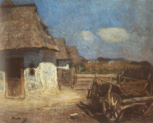 Peasant Yard With Cart, 1912