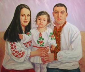 Сімейний портрет.п.о.55х75