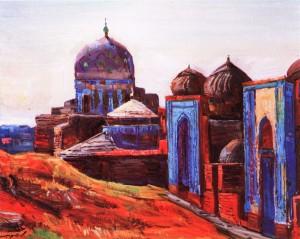 Мавзолей. Самарканд, 1984, кар.о., 50х40
