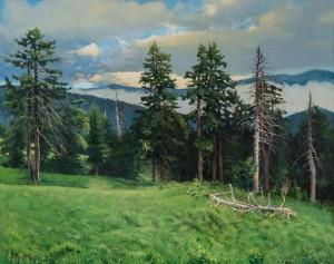 Сосновий ліс, 2012, п.о., 100х80
