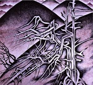 Із серії «Полонини», 1987, пап.акв.гуаш, 16х18