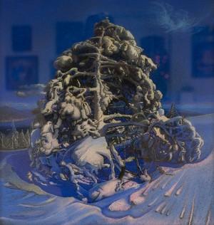 I. Zhupan Pine In Snow'