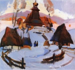 Солом'яні хати, 1977, п.о. 84х90