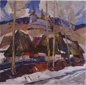 Старе село, 1968, п.о. 100х100