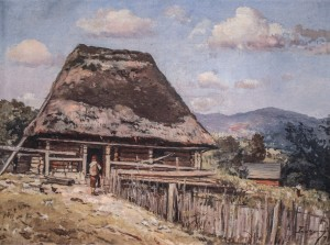 Bohdan Village , 1953, oil on canvas, 60x80