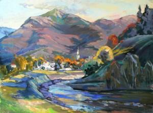 Kolochava peaks, 2014, 60х80