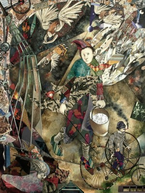 Триптих «Блазень», (л.ч), 2000, паперовий колаж, 81х62