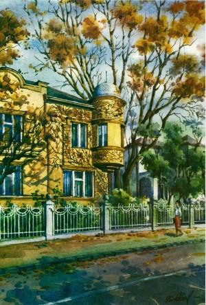 Житловий будинок на набережній Незалежності, 1996, акв.