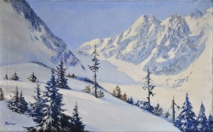 'The Winter Tatras Mountains', the 1940s, oil on canvas, 67x107.jpg