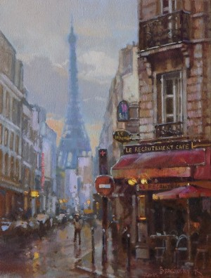 Paris View, 2015, oil on canvas, 40x30