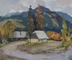 V. Dub. Uzhok Pass', 2017, oil on canvas, 60x70