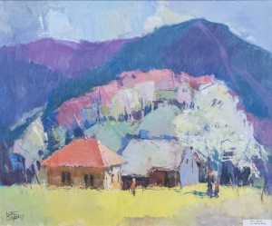 V. Dub. In Liuta Village, 2017, oil on canvas, 50х60