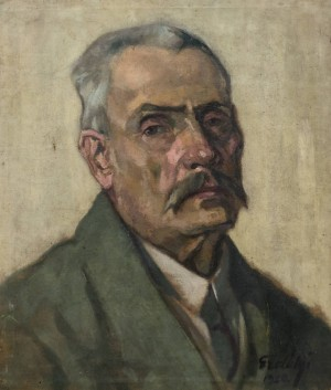 Portrait of Artists Father, 1920, oil on canvas