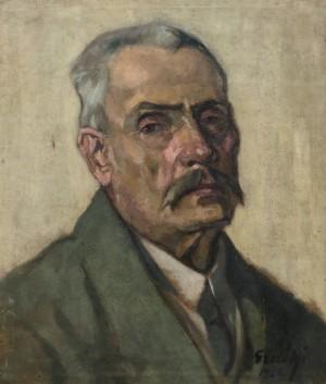 Портрет батька художника, 1920, п.о