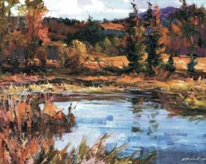 На озері, 2005, 70х95