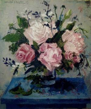 Roses, 2015, acrylic on canvas, 30х35