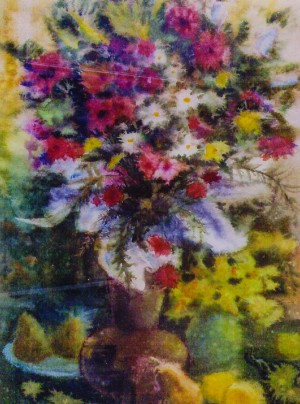 Still Life With Wildflowers, 1997, watercolour on cardboard, 58х41