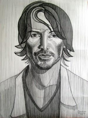 Keanu Reeves, 2014, 60,5х 80,5