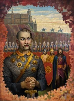 'Князь Святослав Хоробрий. Іду на ви', 2009, п.о., 80х60