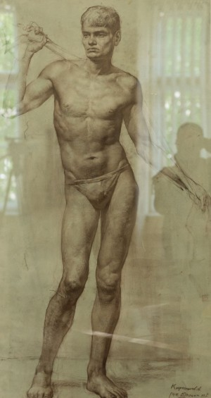 A. Kartashov Model in contrapposto, 131x75, p.sepia  2005