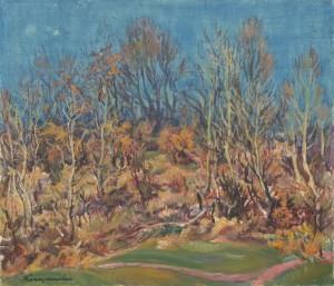Пізня осінь, 1979, п.о. 60х70 (Знаходиться в приватній колекції Дениса Копилова)