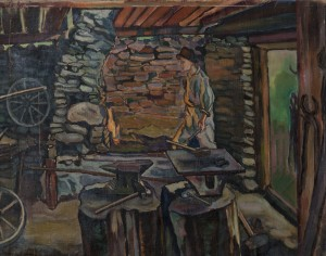 E. Kontratovych  In the smithy