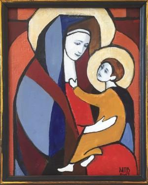 Мати з дитиною, 2017. п.акр. 30х20