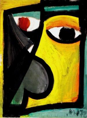 Mask II. 1972.Gouache paper,48х36
