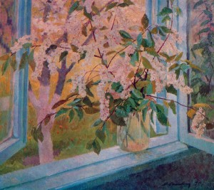 Bird-Cherry Tree, 1977, oil on canvas