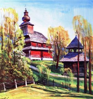 Шутєв І. Церква Зіслання Святого Духа (с.Бистрий) , 1969, к.о., 65х60