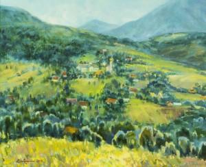 Гірське село, 2016, п.о., 50х60