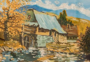 'An Old Mill' The work of a student of the art school 'Rom Art'