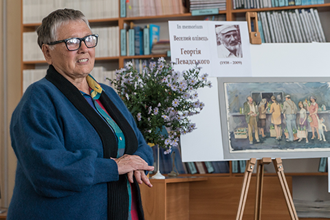 Graphic works of Heorhii Levadskyi were presented in Uzhhorod