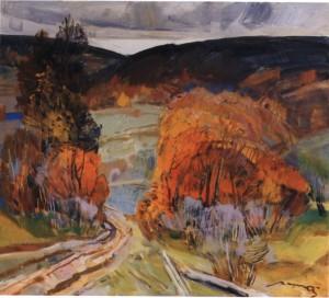 Стежка, 1987, п.о. 75х80