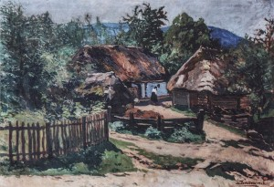 Hlyboke Village. Psalm Reader House, 1928, oil on canvas, 70x100