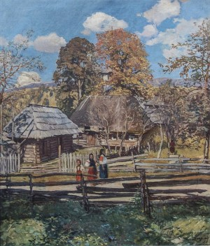 Kolochava Village, 1934, oil on canvas, 111x93
