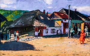 Село Нижнє Ворочево, 1923, к.паст., 39,5х59