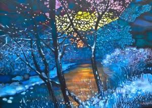 I. Didyk Autumn fantasy, 2013,  paper, pastel, 70х100