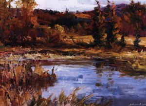 На озері, 2005, п.о., 70х95
