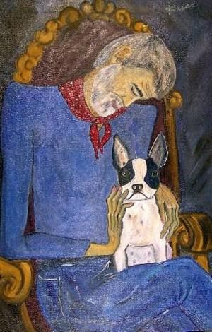 Автопортрет з собакою