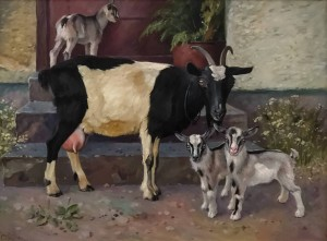 'Коза і козенята', 2011, 60х80