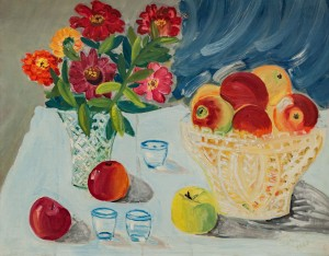 'Zinnias With Apples', 1968