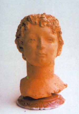 Іштванко, 1990, терракота, 50х20