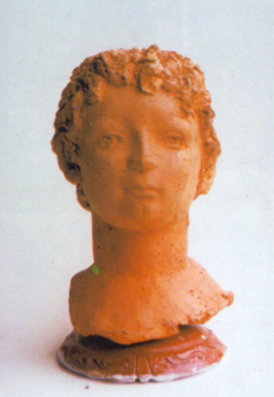 Istvan, 1990, terracotta, 50x20