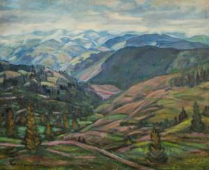 Пейзаж з хатами, 1980, п.о. 70х89,5