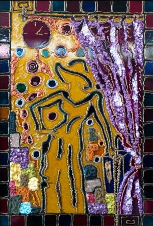 Зал очікування, 2007, скло, фарби по склу, авт. техн.